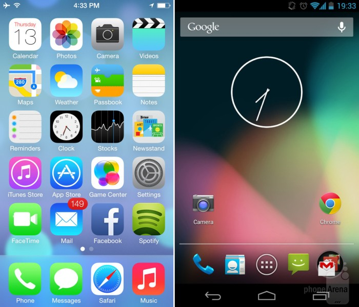 iOS7vAndroid4.3