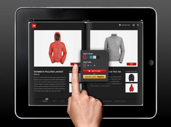 ipad ecommerce shopping by phone catalog